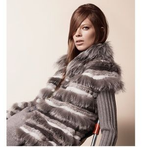 Stripe Fox Fur Vest - Tory Burch RUNWAY!!